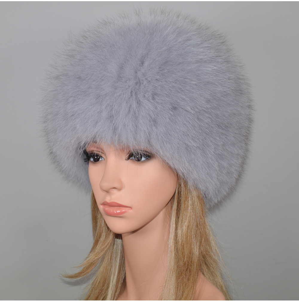 Hadec25d06df5404ca04a8e6b604a9df6d - New Luxury 100% Natural Real Fox Fur Hat Women Winter Knitted Real Fox Fur Bomber Cap Girls Warm Soft Fox Fur Beanies Hats