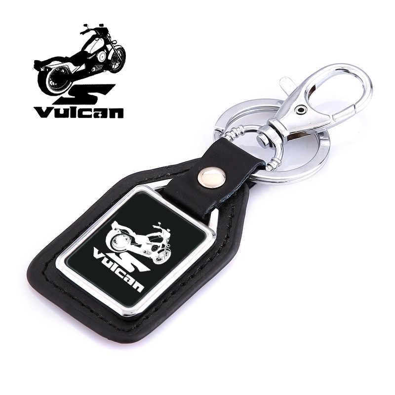 Модный кожаный брелок для ключей в байкерском стиле с логотипом, аксессуары для Kawasaki VULCAN s 650 VN 800 1500 900, аксессуары