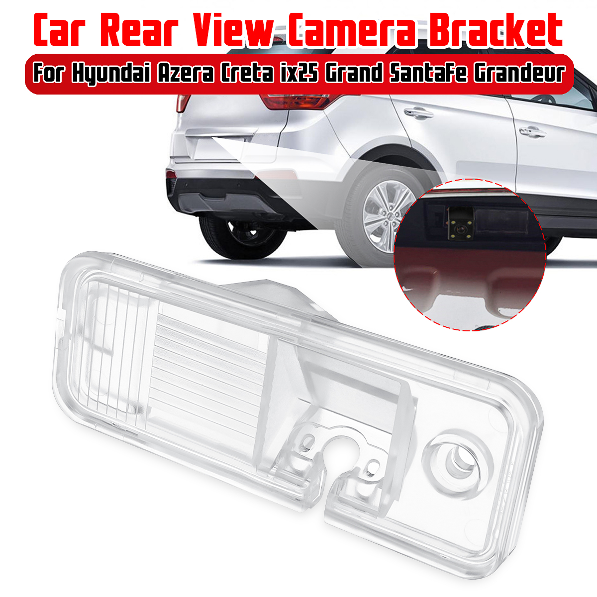 Car Parking Rear View Camera Bracket License Plate Cover Case Housing Mount For Hyundai Azera Creta Ix25 Grand SantaFe Grandeur