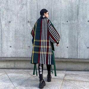 Image 2 - Xitao plus size maré retalhos xadrez moletom roupas femininas 2019 moda oversized pulôver camisola de manga completa topo zll4527