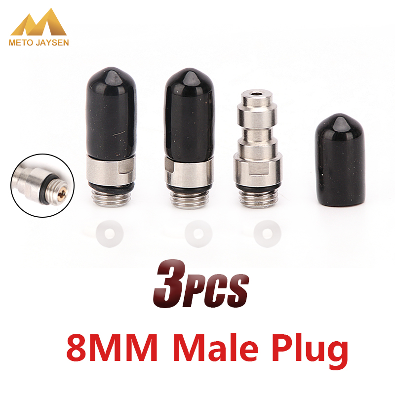 M8x1 Male Plug Adapter 8MM Quick Coupler Stainless Steel PCP Airforce Paintball Pneumatic Air Refilling Fittings 3pcs/set