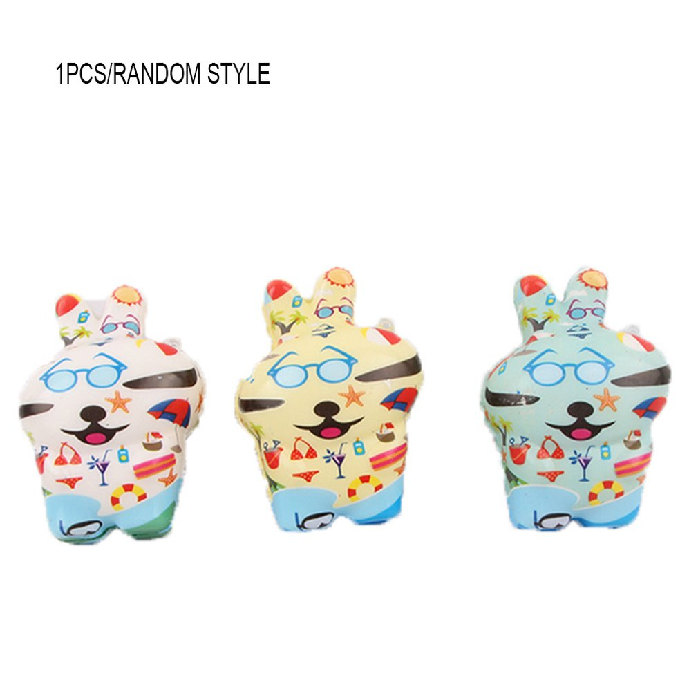 Simulated Cartoon Color Printing Rogue Rabbit Toy Decoration Slow Rebound Decompression Toy Foam Relaxed Toy Cake Sample Model