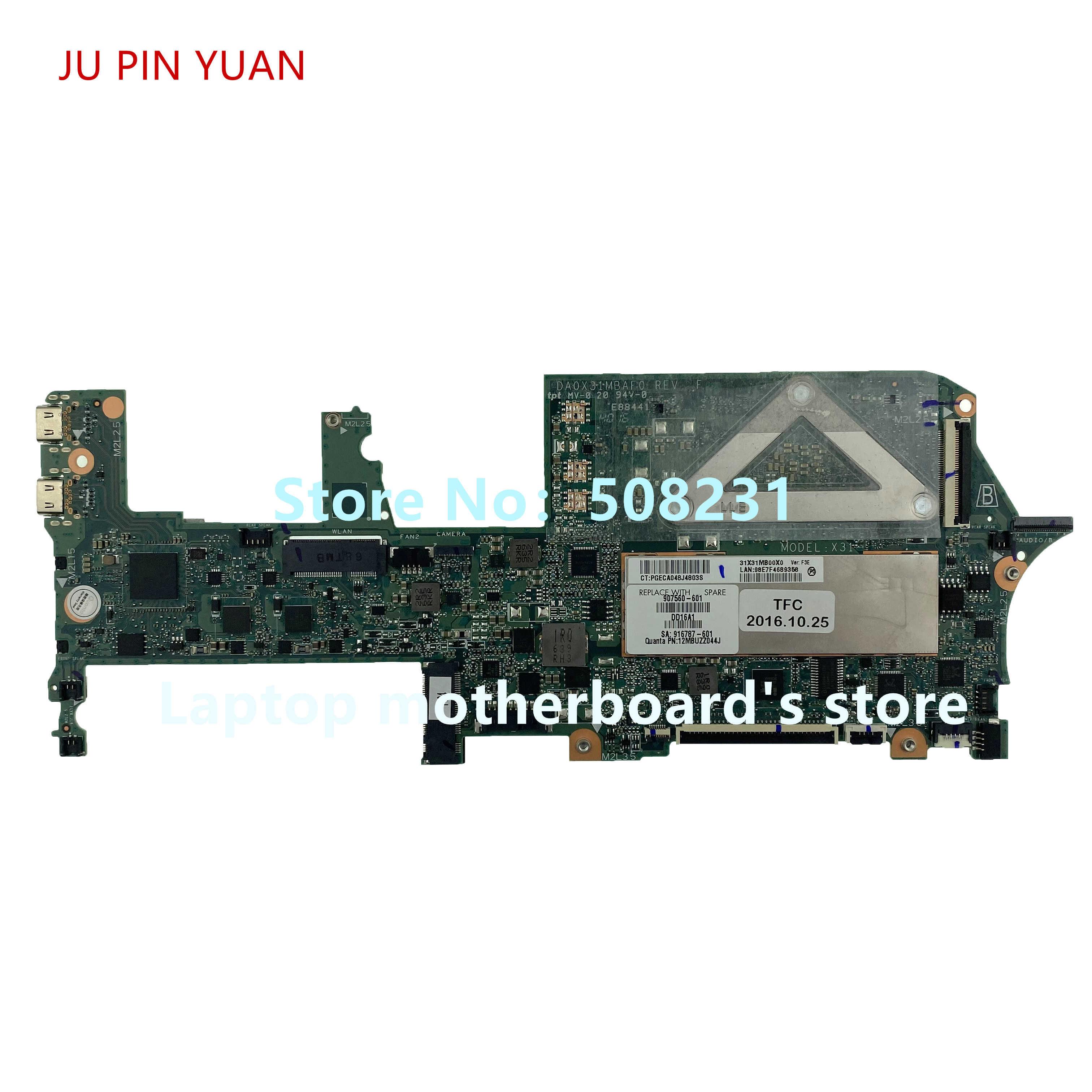 ג 'ו סיכה יואן 907560-601 907560-001 עבור HP Spectre x360 13-w 13T-W000 סדרת מחשב נייד האם i5-7200U 8GB 100% נבדק באופן מלא