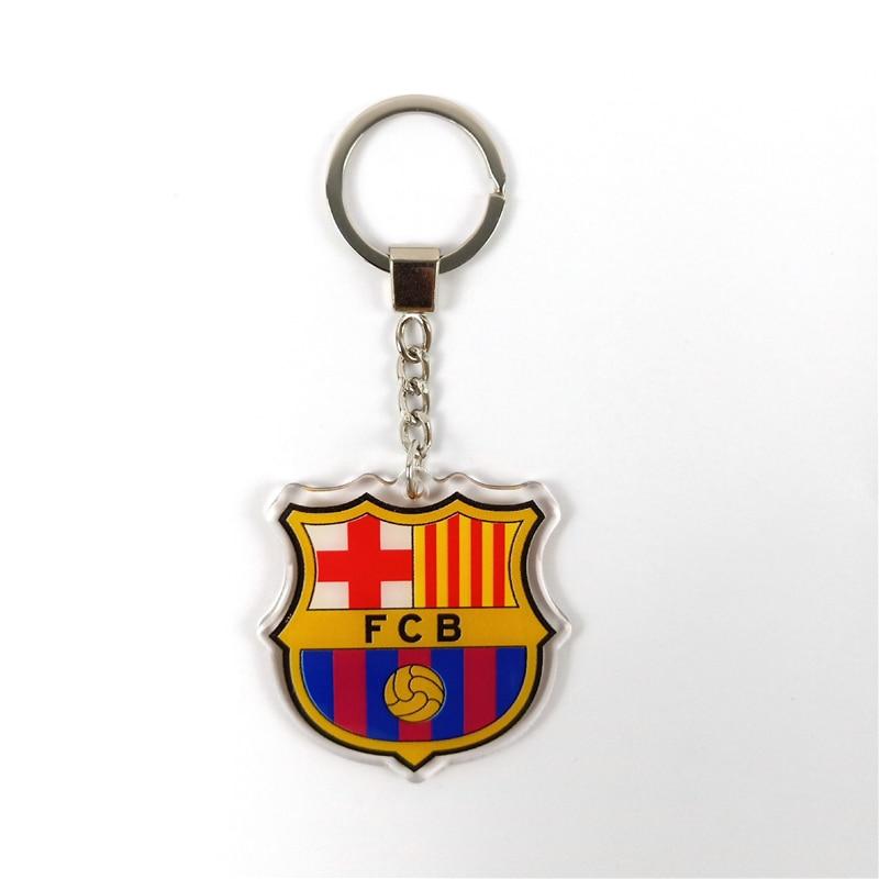 The La Liga Barcelona Football Club Keychain Team Logo Key Chain Key Ring For Football Fans Acrylic Pendant Jewelry