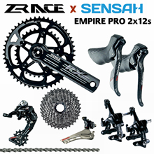 Road-Groupset Sensah Empire Carbon-Fiber 2x12-Speed ZRACE R/l-Shifter R/f-Derailleurs
