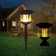 HobbyLane Солнечная энергия пламя лампа Открытый водонепроницаемый сад вилла лужайка светильник светодиодный декоративный уличный фонарь ночной Светильник