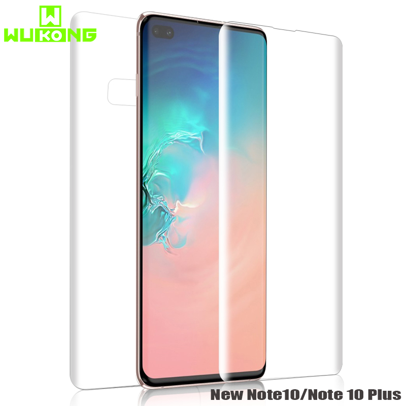 Back Front Screen Protector For Samsung Note 9 S9 Plus S8 Full Cover New Hydrogel Invisible For Samsung Note 10 Plus S10 E Plus