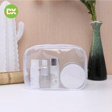 Transparent Pvc Cosmetic Waterproof Travel Large Capacity Wash Jelly Bag Zipper Makeup Bath Organizer Storage Toy Beauty Kit