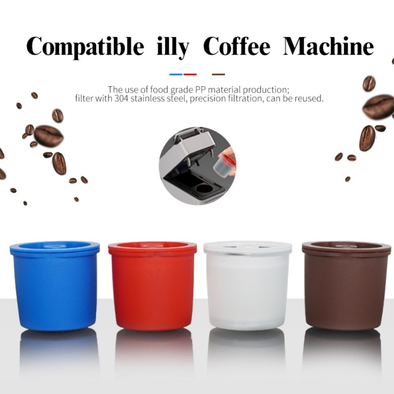 Reusable Coffee Filter Refillable Capsule Cup For Illy Coffeemaker Nespresso Coffee Capsule Cafe