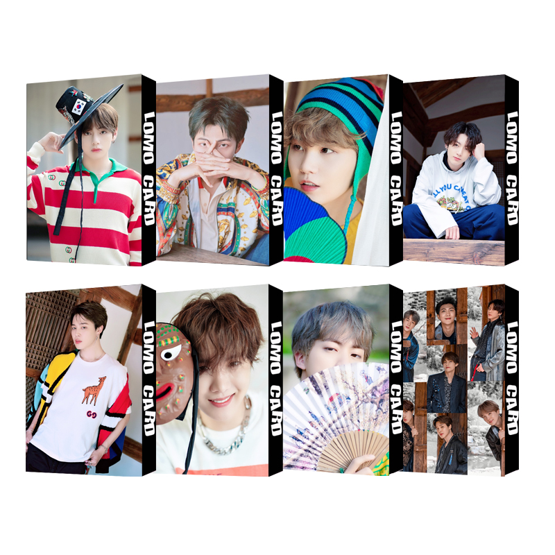 Hot KPOP LOMO Card Bangtan Boys Collection Photocard Self Made Paper Cards