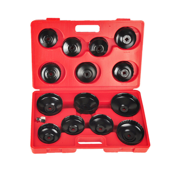 14pcs Universals Car Oil Filter Wrench Cap Auto Removing Tool Filter Housing Cap 4 Cylinder Non-Slip Hand Tool 2019 New