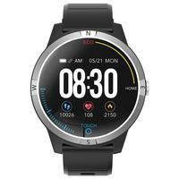 Runde Bildschirm Smart Uhr Herz Rate Blutdruck Überwachung Sitzende Erinnerung Nachrichten Anruf Benachrichtigungen für Android iOS