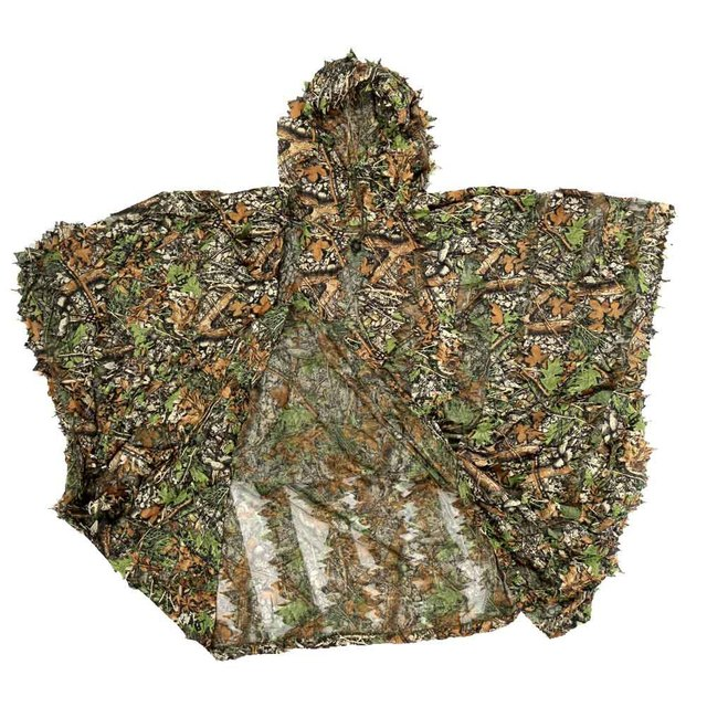 3D Hunting Clothes Camouflage Ghillie Suit Jungle Cloak Poncho Bionic Leaves Dress Hooded Ghillie Suits for Sniper Photograph 2