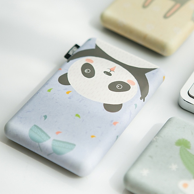 Liberfeel Maoxin mini power bank 8000mah with bag and charing cable finger ring holder cute cartoon panda bear phone accessories 3