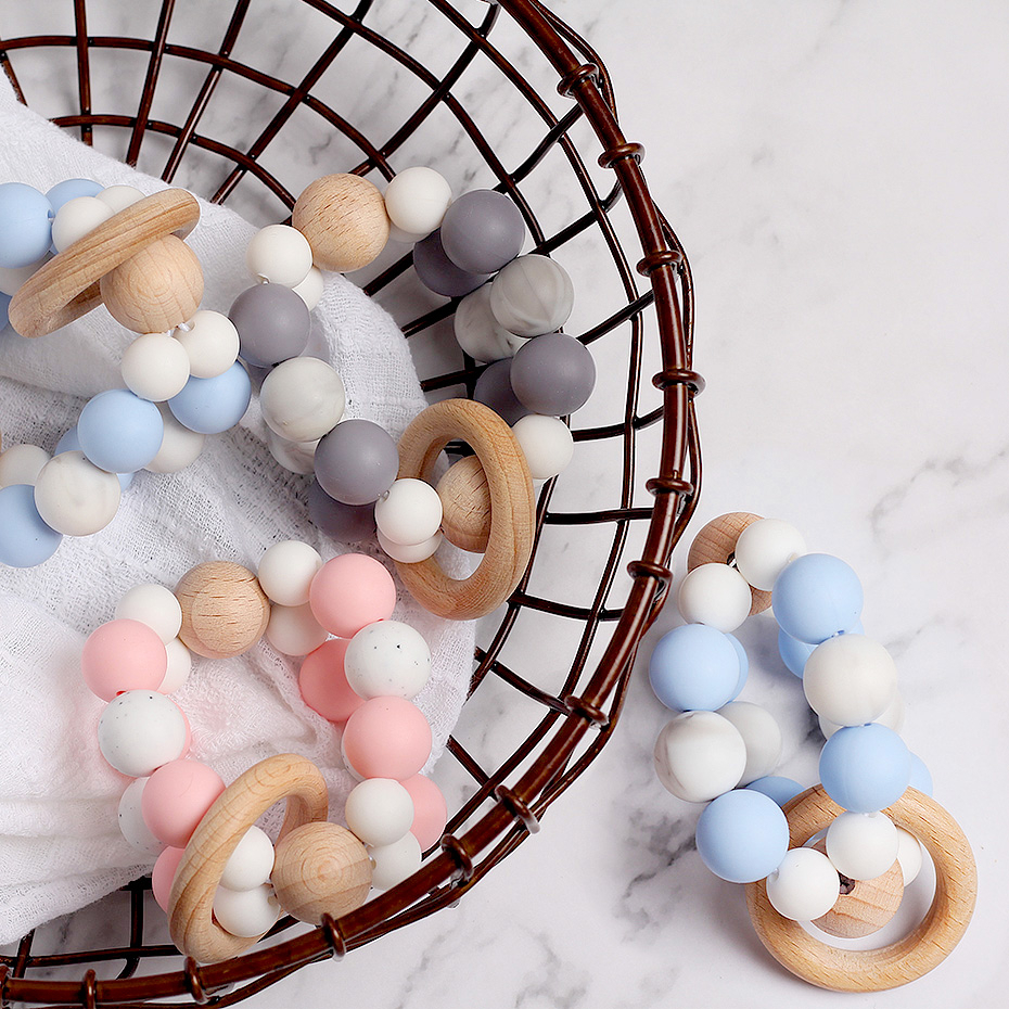 1pc For Pacifier Clip  Pacifier Chain Without Bisphenol A Musical Opera Silica Gum Bead Baby Bed Suspended Pacifier Baby Toys