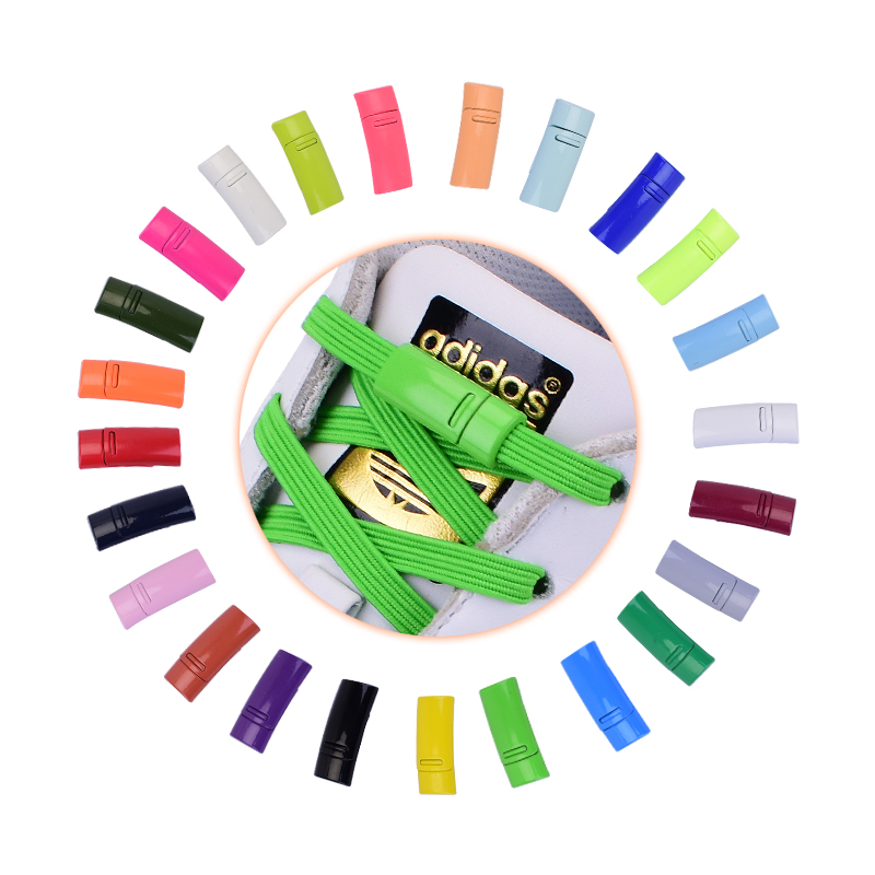 Magnetic Buckle Shoelace Buckle Metal Locking Shoelaces Accessories Metal Lace Lock DIY Sneaker Kits Metal Lace Buckle 24colors