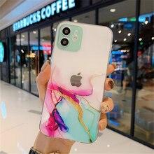 Coque de téléphone avec peinture aquarelle, étui transparent résistant aux chocs pour IPhone 12 11 Pro Max X XR XS Mini 8 7 Plus 11