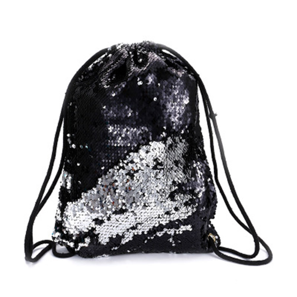 Sequin Drawstring Bags Reversible Sequin Backpack Glittering Shoulder Bags For Girls Women SUB Sale