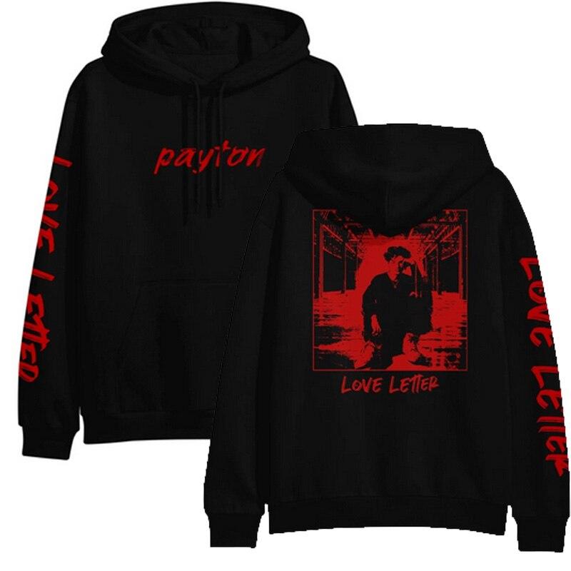 Payton Moormeier Hoodies  PYTN LOVE LETTER OUT NOW Sweatshirts Men Women Print Hoodies Pullover Unisex Harajuku Tracksuit