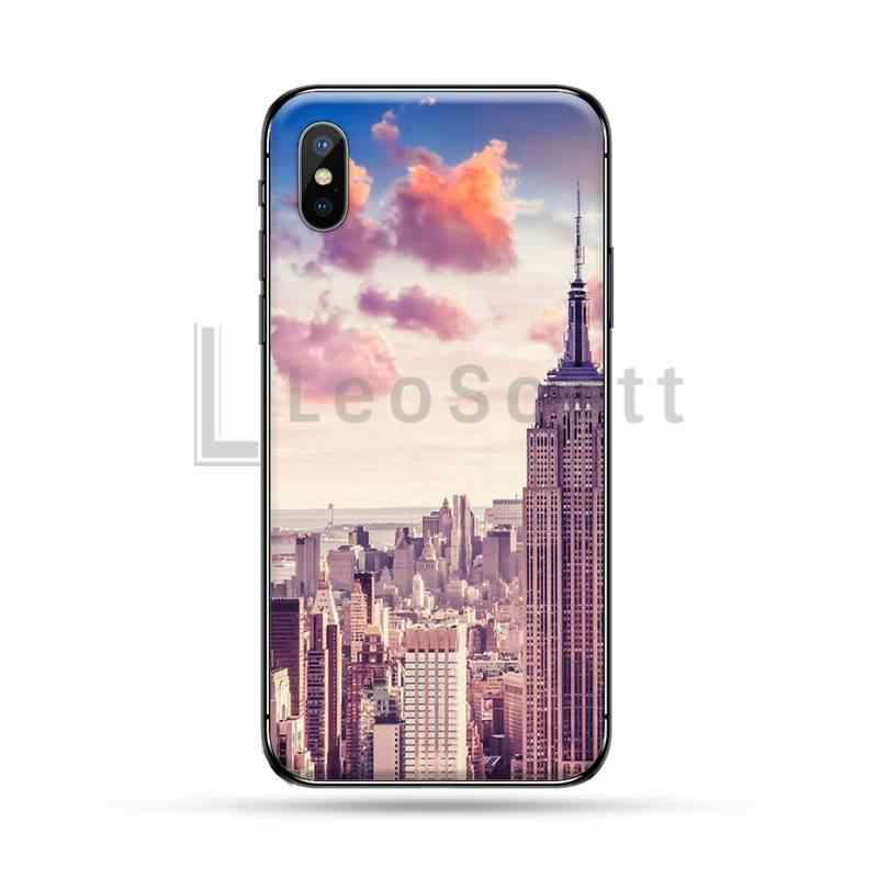 אמריקה ניו יורק TPU שחור טלפון מקרה כיסוי גוף עבור iphone 5 5S 5c se 6 6s 7 8 בתוספת x xs xr 11 pro מקסימום