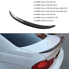 Car Rear Spoiler Real Carbon Fiber Auto Spoiler for BMW Series 2/3/4/5 F22 E90 E92 E93 F32 G30 G38 F26/X4 P Style Car Styling real carbon fiber highkick car trunk rear racing spoiler wing lid for 3 series e92 coupe 2006 2013 forged carbon spoilers