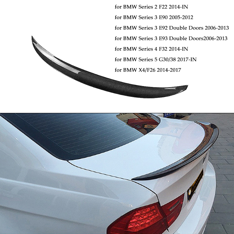 Car Rear <font><b>Spoiler</b></font> Real Carbon Fiber Auto <font><b>Spoiler</b></font> for <font><b>BMW</b></font> Series 2/3/4/5 F22 E90 E92 E93 F32 G30 G38 <font><b>F26</b></font>/X4 P Style Car Styling image