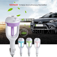 Trend Portable Car Aroma Diffuser 12V Steam Air Humidifier Mini Air Purifier Aromatherapy Essential Oil Diffuser Portable Mist