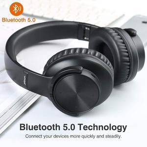 Image 2 - B8 بلوتوث 5.0 سماعات 40H اللعب الوقت اللمس التحكم اللاسلكية سماعة مع مايكروفون فوق الأذن سماعة TF سماعة للهاتف PC