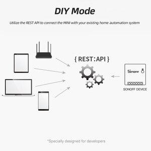 Image 4 - Sonoff básico/mini wifi em dois sentidos interruptor inteligente pequeno aplicativo/lan/voz/controle remoto diy suporte um interruptor externo do google casa alexa
