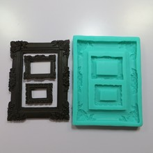 Frame /Photo Silicone Mold Fimo mold Chocolate Fondant Cake Decoration Sugar Craft Tools Soaps