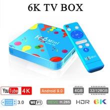 H96 Mini Tv Box Android 9.0 4gb Ram 128gb Rom 6k Boxes Allwinner H6 Quad Core Hevc H.265 Wifi Google Player Youtube Set-top Box стоимость