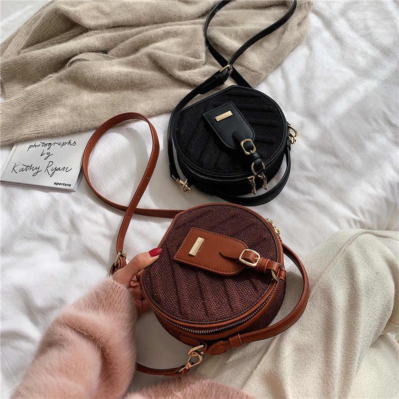 Зима 2019 новый стиль женская сумка корейский на одно плечо маленькая круглая