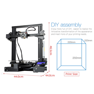Image 2 - CREALITY 3D Ender 3 Pro Printer Printing Masks Magnetic Build Plate Resume Power Failure Printing KIT Mean Well Power Supply