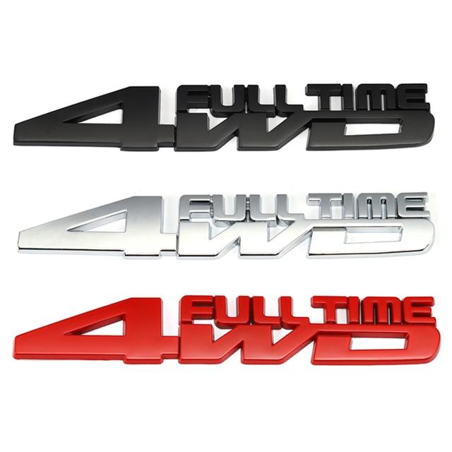 4WD Full Time รถป้ายสติกเกอร์สำหรับ Toyota Celica GT4 Hummer Land Cruiser Volkswagen Phaeton Passat Ford Focus RS ST cosworth