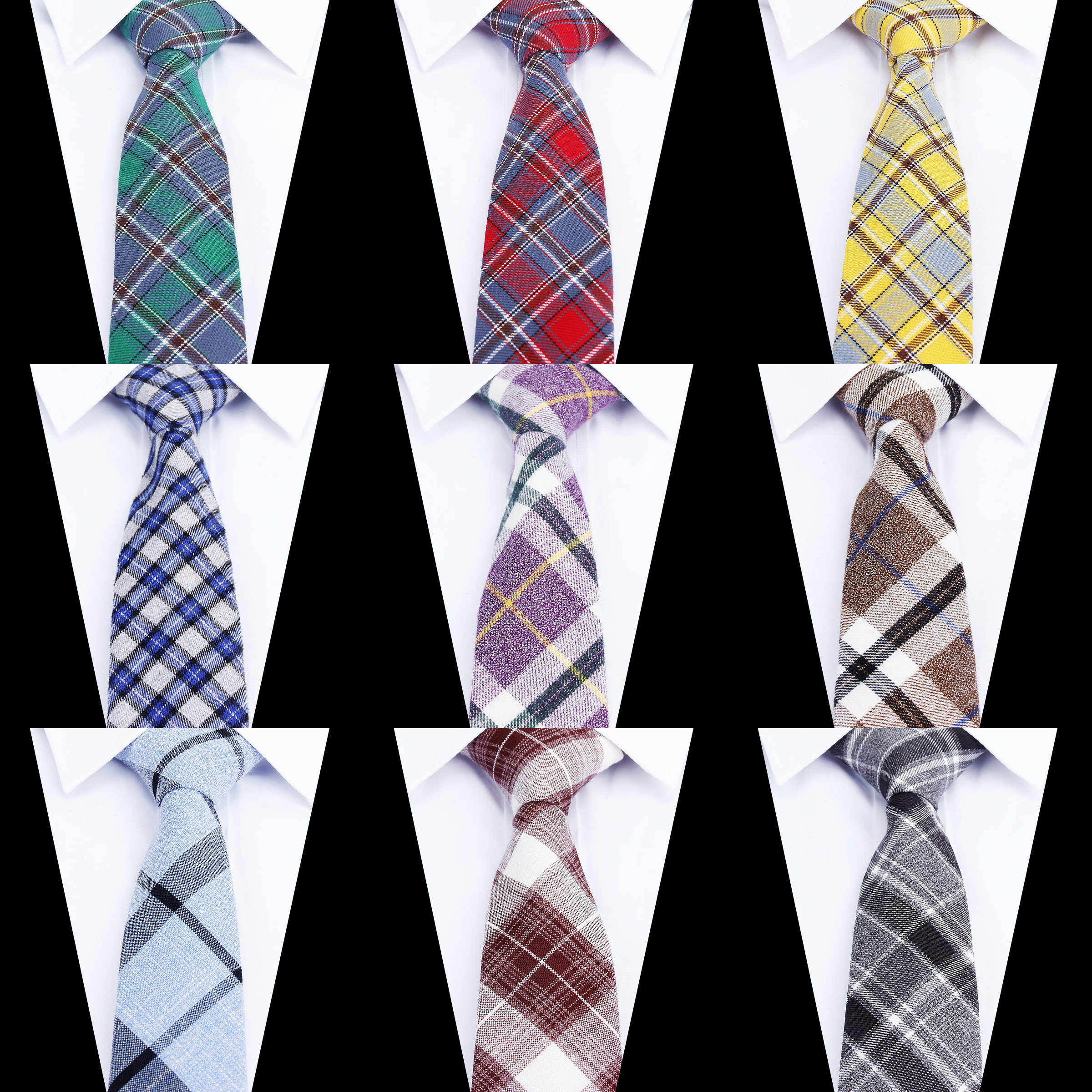 Women Tie Classic Men's Plaid Necktie Casual Sweet Rainbow Suit Bowknots Ties Male Cotton Skinny Slim Ties Colourful Neckties