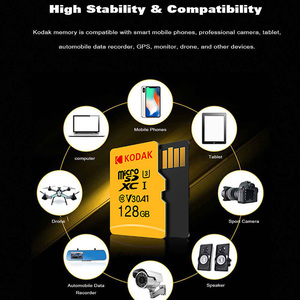 Image 2 - Kodak Hoge Snelheid Micro Sd 64 Gb Class 10 U3 4K Carte Micro Sd 128 Gb Flash Geheugenkaart 256 Gb Mecard micro Sd Kart 32 Gb