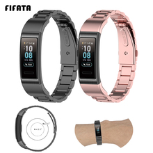 Металлический ремешок для часов FIFATA из нержавеющей стали для Huawei Band 3/3 Pro/4 Pro, сменный смарт браслет для Huawei Band