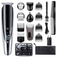 HATTEKER Professional Hair Clipper für Männer Wiederaufladbare elektrische rasiermesser 5 in 1 Haar Trimmer haar schneiden maschine bart trimer 598