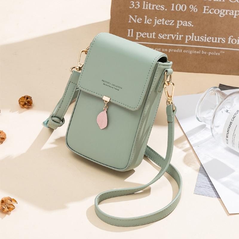 Brand Single Shoulder Pocket Wallet Pouch Case Bag Messenger Bag Female Purse Card Cell Phone Pocke