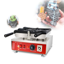 2PS Open Mouth Ice Cream Taiyaki Machine Fish Cone Maker fish shape Waffle Cone Maker CE 110V 220V high efficiency commercial gas double plate 12pcs fish taiyaki waffle maker machine taiyaki maker commercial