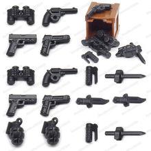 Оружие строительные блоки военные специальные полицейские фигурки