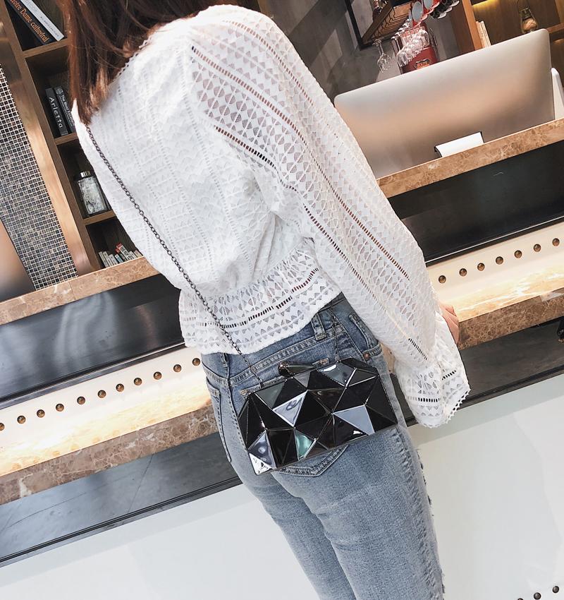 Hexagon Women Handbags Metal High Quality Clutches Fashion Geometric Mini Party Black Evening Purse Silver Bags Gold Box Clutch (20)