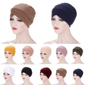 Hijab Caps Women Stretchy Hijab Scarf Cross Muslim Hijab Headscarf Turban Hat Muslim Scarf  Hijab Turban Headband