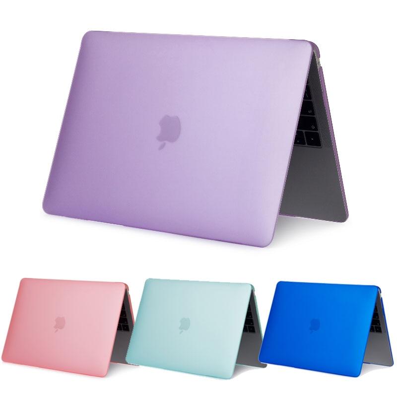 Coque para MacBook Air 11 13 Caso Laptop Ar sólida A1465 A1466 Matte Tampa de PVC Rígido para Mac Ar livro pro Retina 11 12 13 15 Caso