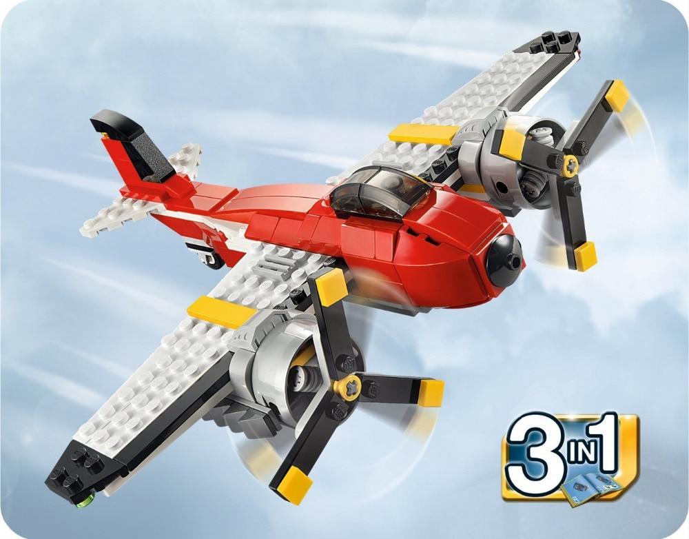 DECOOL City 3 In 1 Creator Propeller Adventures Building Blocks Bricks Model Kids Toys Marvel  Compatible Legoings