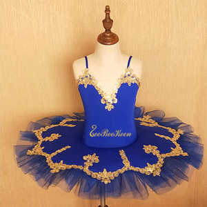 Çocuk bale Tutu sahne performansı bale elbise dans Bodysuit giyim kuğu gölü bale kostümü kız için