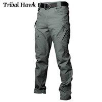 Tactical Cargo Pants Men Military Work Pants Army Stretch Flexible Multi Pockets Casual Cotton Trousers Pantalon Hombre XXXL IX9