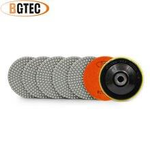 Bgtec 4 дюймовые 6 шт #200 влажные Алмазные Гибкие Полировальные