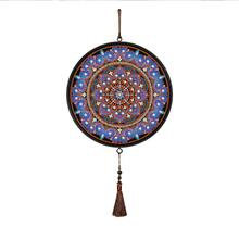 Purple Mandala DIY Special Shape Diamond Painting Tassels Pendant Partial Drills(China)