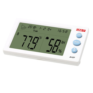 Image 4 - UNI T A13T Digital LCD Thermometer Hygrometer Weather Station Instrument Room Temperature Humidity Meter Alarm Clock